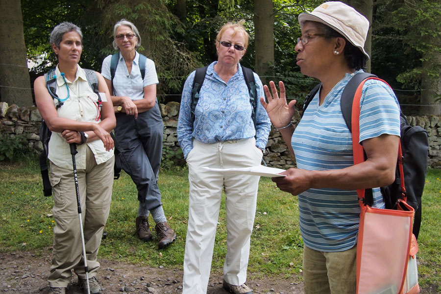 Ingrid Pollard talks about her walk