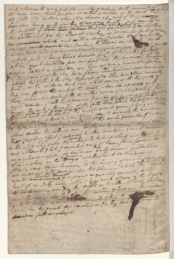 Letter from William and Dorothy Wordsworth to S.T. Coleridge